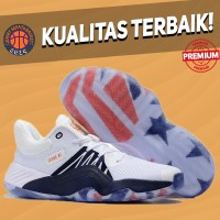 Sepatu Basket Sneakers Adidas DON Issue 1 USA White Navy Pria Wanita