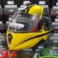 Helm KYT Rocket #2 Black / Crimson Yellow