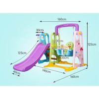Play colorfull plastic baby slide and swing set Baby Kids Play Ground