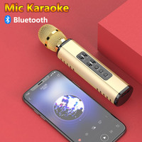 Mic Wireless Bluetooth Karaoke Player K6 Microphone Speaker KTV Efek