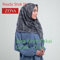 Zoya Hijab Kerudung Segi Empat - Zavaya Scraf Silver Grey Murah Medan