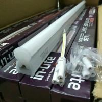 lampu TL LED T5 20 watt+kap slim 1set komplit 120 cm putih 6500k