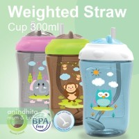 BABYSAFE Sipper Cup with Weighted Straw 300ml Botol Minum Sedotan Anak