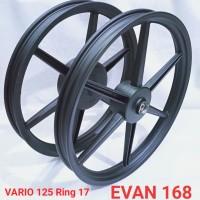 Velg Racing ROSSI VARIO 125 150 lama Ring 17 Palang 6 Hitam