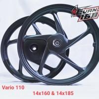 Velg Racing ROSSI VARIO 110 BEAT SCOOPY Ring 14 Palang 5 HITAM Doff