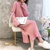 Wanita Sweater Rajutan Long Bottoming Shirt Wanita Sweater Lengan