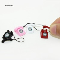 Mainan Telepon Meja Putar Retro untuk Rumah Boneka