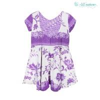 Lil' Notre Dress Anak/Dress Batik Anak/Zena Dress/Purple