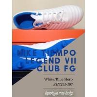 Nike Tiempo Legend VII Club FG Football White Blue Hero Sepatu Bola
