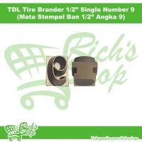 Mata Stempel Ban Listrik TDL Tire Brander 1/2 Inch Angka 9