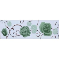 Plint List Keramik dinding ROSE GREEN uk 8x25 cm /pcs