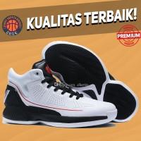 Sepatu Basket Sneakers Adidas Rose 10 White Black Pria Wanita TERMURAH