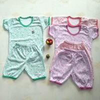setelan baju anak little Q/stelan kaos bayi little Q ademlembut size L