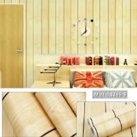 wallpaper dinding stikwr uk.10m*45 triplek kuning waterproof