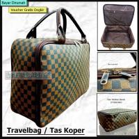 Travelbag Tas Koper Anak Tas Pakaian Anak Motif Kotak Tas Koper