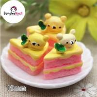 Miniatur Rilakkuma Kue Tart Slice Aksesoris Barbie