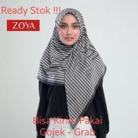 Zoya Hijab Kerudung Segi Empat - Amaica Scarf Ivory Murah Medan