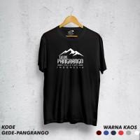 Kaos pendaki/Kaos gunung/ t-shirt GEDE PANGRANGO Kaos Lengan Pendek