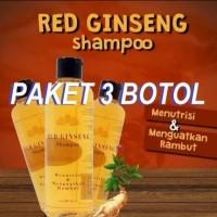 OBAT PENUMBUH PENYUBUR RAMBUT SAMPO RED GINSENG ORIGINAL 3 BOTOL