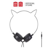 MINISO Headset Headphone Earphone On Ear Kabel Telinga Kucing Cat Ears