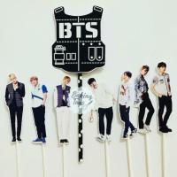 BTS Logo Army Topper Cake Birthday / Hiasan Kue Ulang Tahun