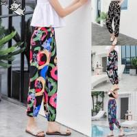 Holiday Lantern Trousers Women Summer Beach Yoga Pants Ethnic Style