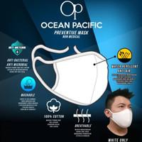 Ocean Pacific - Masker Kain OP Putih - Anti Air - Anti Bacterial