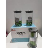 Toples Kaca Canary C Stainless Ukuran 1050ml (Set 6 pcs)