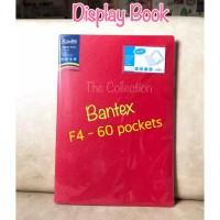 60 pocket F4 Display Book 3187xx Bantex Clear Holder Folio ATK0686BX