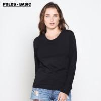 Tumblr Tee / T-Shirt / Kaos Wanita Lengan Panjang Polos Spandex-ELLIPS