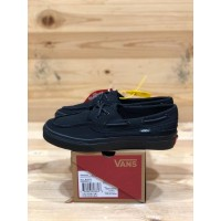 Sepatu Sneakers Unisex Vans Zapato Del Barco Up All Black Premium BNIB