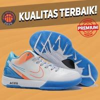 Sepatu Basket Sneakers Nike Kobe 4 Protro White Blue Orange ACES