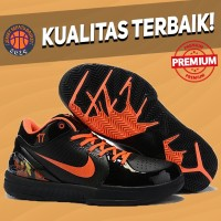 Sepatu Basket Sneakers Nike Kobe 4 Protro PJ Tucker PE 1 Black Orange