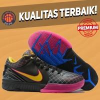 Sepatu Basket Sneakers Nike Kobe 4 Protro Black Pink Yellow hitam