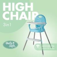 BABYSAFE High Chair 3in1 Booster Seat Kursi Makan Bayi Baby Safe