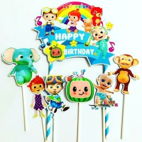 Cocomelon Blue Topper Cake Birthday /Hiasan Kue Ulang Tahun