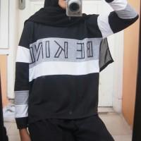 baju belang hitam putih CODE : K
