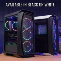 Aerocool AERO ONE Tempered Glass Mid Tower ATX Gaming Case - Black