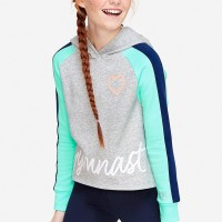 Justice - Sport Color Block Hoodie - Mint Ice Poly