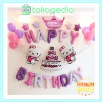 Hello Kitty Set Dekorasi/ Ulang tahun Anak/ Balon Foil/ Balon Karakter