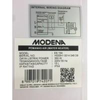 Jual water heater modena es 15a 350watt Berkualitas