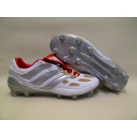 Sepatu Bola Adidas Predator Precision II White Silver Gold FG Diskon