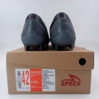 Sepatu Bola Specs Swervo Galactica Pro FG Black Grey Red 101108