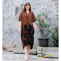 Dress Batik Kaftan Wayang. Terusan Batik Modern Jumbo Big Parang