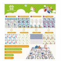 Matras Baby karpet bermain Anak Playmate Lipat New Motif Bright Crown
