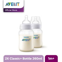 AVENT SCF563/27 Bottle Classic+ 260ml 2pcs Botol Susu Bayi