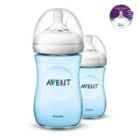 AVENT Bottle Natural 2.0 Twin Pack 260ml - Blue SCF695/23