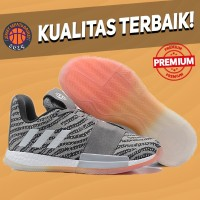 Sepatu Basket Sneakers Adidas Harden 3 Solid Grey Pria Wanita