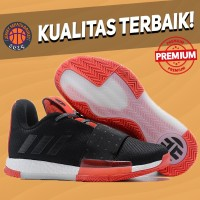 Sepatu Basket Sneakers Adidas Harden 3 Black Red Bred Pria Wanita
