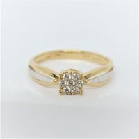 Cincin emas asli kadar 700 70% 22 solitaire 2 gr fashion permata putih